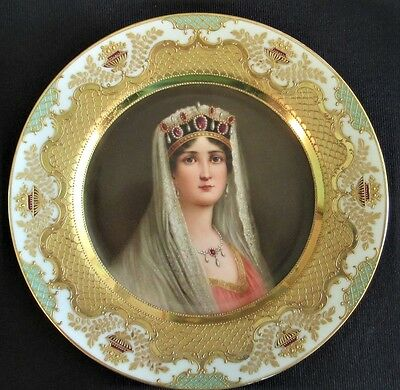 Royal Vienna Portrait Plate, Signed, Excellent Original, Museum Quality,
