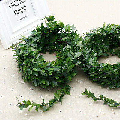 Meadow natural leaf iron wire rattan flower green leaves hand wreath decoration