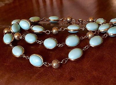 Opera Turquoise Blue Paste Riviere necklace