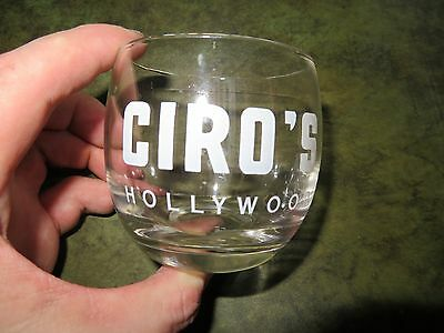 CIRO's HOLLYWOOD NIGHT CLUB ROCKS GLASS ACL FROM ORIGINAL CASE BARWARE ICONIC