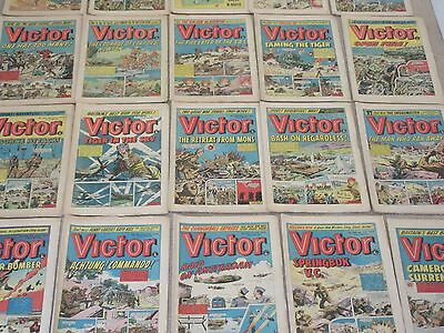 VICTOR COMICS X 25 FROM 1974 - Good/Fair condition/ WARLORD-Job Lot