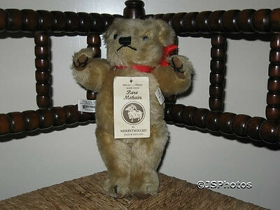 Merrythought Golden Mohair Bear Growler Limited Edition Signed