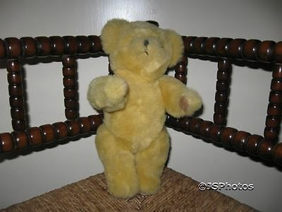 "Deans UK Exclusive Yellow Mohair Bear "" Roo """