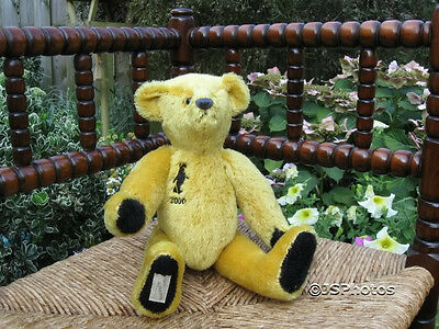 Deans Ragbook UK Yellow Mohair Golden Dawn Bear 2000