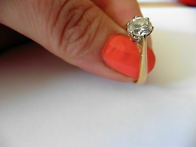"""18ct Hallmarked Gold 0.80ct Solitaire Diamond Ring. Size """"S"""""""