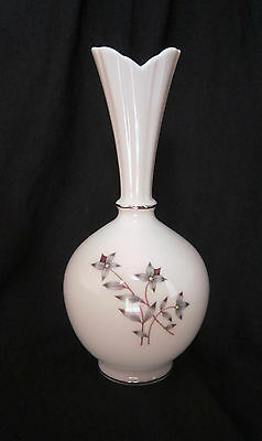"Very Pretty Lenox Porcelain Bud Vase - 8"" - Grey Flowers"