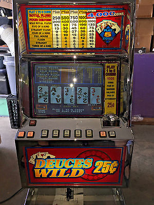 Bally Video Poker - V5500 - Deuces Wild - Coins Only  - Play To 1 To 5 Coins