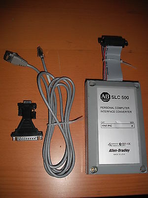 Allen Bradley SLC 500 PC INTERFACE 1747-PIC WITH CABLE & ADAPTOR