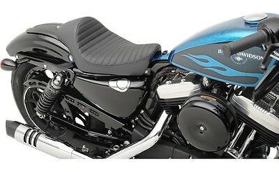 Drag Classic Stitch Cafe Solo Seat for Harley 2010-17 XL Sportster 0804-0673