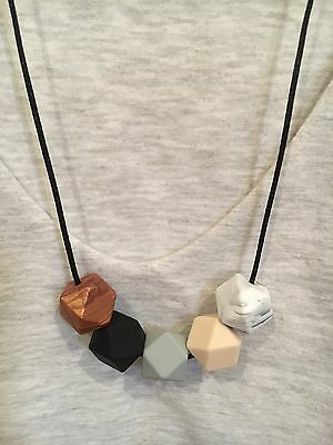 Silicone Necklace for Mum Sensory Nursing Jewellery Beads Aus Gift (was Teething