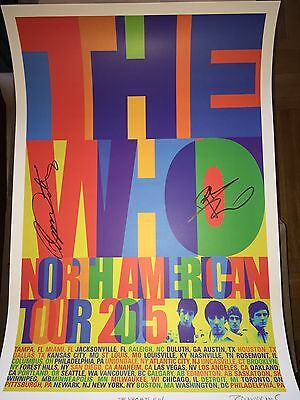 Roger Daltrey  & Pete Townshend Signed  The Who Hits 50 Litho  Poster Lithograph