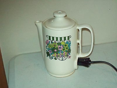 Vintage electric Teapot made in Japan Maruka Minamitama Seitosho 1970's design