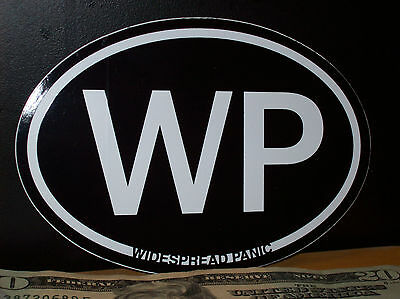 Widespread Panic Band Black & White Oval Sticker New Officially Licensed