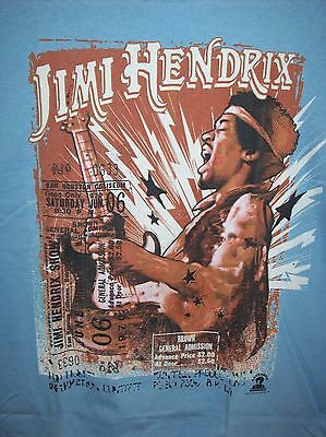 Jimi Hendrix Cry Of Love Tour Lt. Blue T-Shirt New Officially Licensed Oop  Xxl