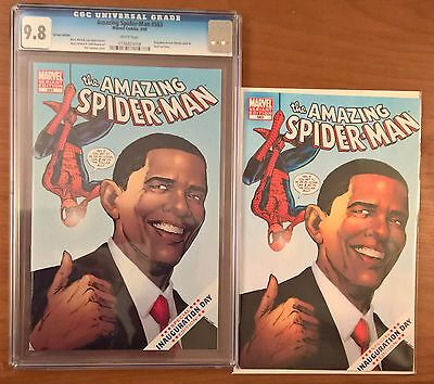 Amazing Spider-man #583 Obama Inauguration Variant CGC 9.8 & Extra Copy NM