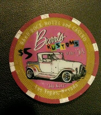 Hard Rock Casino $5 Barris Kustoms Poker Chip