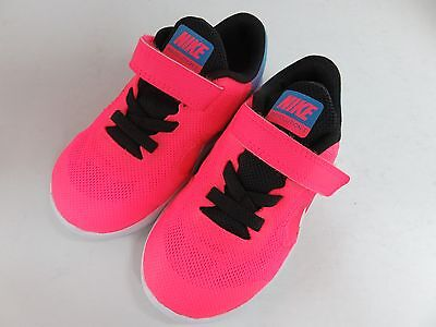 New Toddler Girls Nike Revolution 3 - Pink Neon/Purple/Blue - US Size 7c