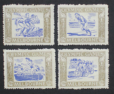 1956 Olympic Games Australia/Melbourne Poster Stamps/Labels