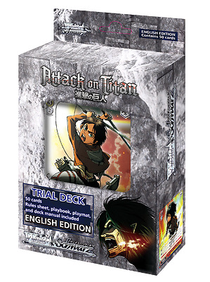 Weiss Schwarz TCG Attack On Titan Trial Deck - Brand New English set