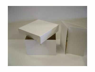 White Cake Box - 12 Inch With Removable Lid Pack Quantity 10 NEW