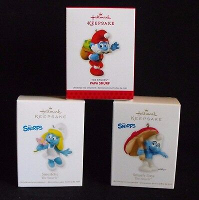 Smurf Lot Hallmark Ornament ~ 2011, 2012, 2013 ~ Mint in Box ~ Peyo