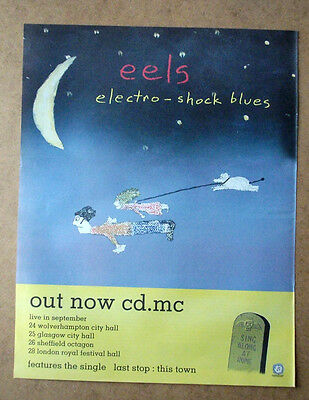 EELS  - ELECTRO SHOCK - TOUR  DATES 1998 Original MUSIC ADVERT POSTER 37 X 29CM