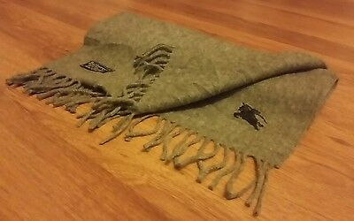 Authentic Vintage Burberry Scarf Solid Grey 100% Cashmere CU