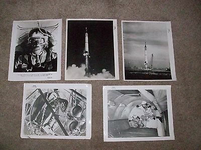 Set Of 5 (8x10in) NASA Official Photographs, 1959,1960 &1961