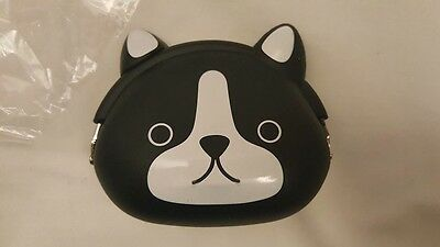 NEW IN PACKAGING Silicon Boston Terrier Dog Coin Purse French Bulldog