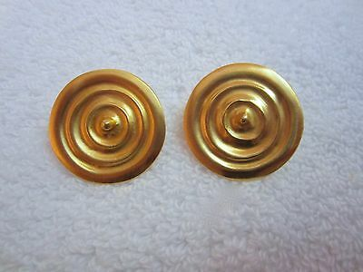 MMA Museum Bronze Age Torque Earrings Gold Plated Pierced --Superb!
