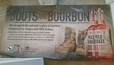 Boots And Bourbon Wild Turkey Vinyl Banners