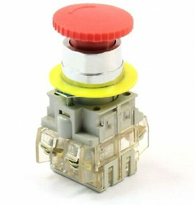 Panel Mounted Mushroom Cap Latching DPST Rotary Reset Switch 660V 10A