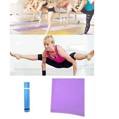 Yoga Mattress Exercise Fitness Gym Mat Durable Pilates Healthy Carrying Straps