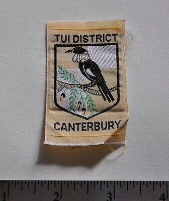 Tui District, Canterbury, New Zealand, Boy Scouts Badge Patch, Silk
