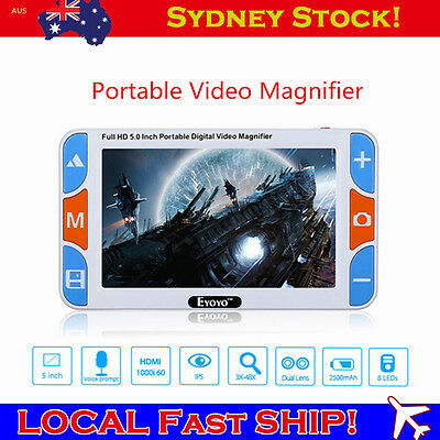 """5"""" 4X-32X Portable Video Digital Magnifier Electronic Reading Aid 800*480 LOCAL!"""