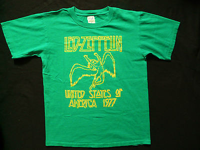 LED ZEPPELIN United States of America 1977 retro farewell tour T-shirt sz M.