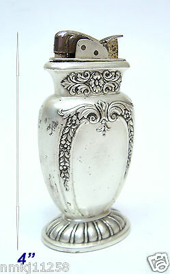 "Vintage Collectible 1948 Evans Cigarette Lighter  Table 4"" Silver Like"