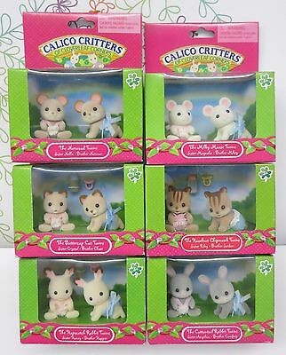 New Calico Critters Sylvanian Families Twins Baby Norwood Mouse Milky Mouse Cat