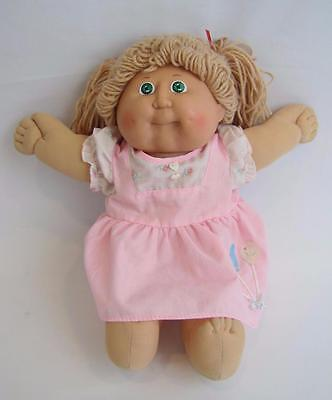 Vintage 1978 1982 Cabbage Patch Doll Green Eyes Light Hair Appalachian Art