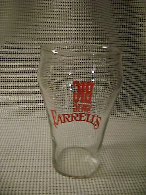 "vintage glass FARRELL'S Ice Cream Parlour restaurant ware BIG SWIG 7"" clear red"