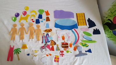 63 Pc Storytelling Felt Board Set Birthday Party Preschool Homeschool Education