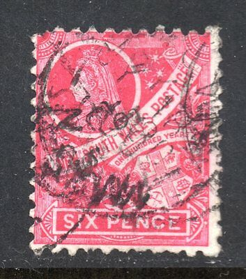 New South Wales #80 used, some short perfs