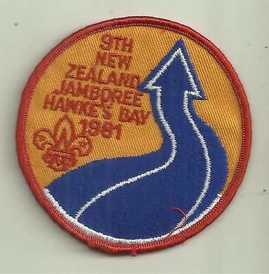 9th NEW ZEALAND JAMBOREE HAWKE'S BAY 1981 BOY SCOUTS PATCH