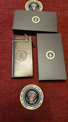 Ladies High Quality Pu Leather Presidential Brown Wallet With Presidential Seal