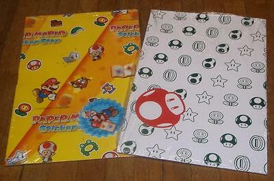 Super Mario Bros sticker star wrapping paper gift wrap tag Nintendo NES brothers