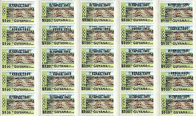 """Guyana Stamps: Overprint and Surcharge 1984 &1988 Olympic Games """"LOS ANGELLES"""""""