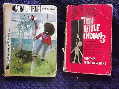 """2 BOOKS 1958 Diez Negritos + Ten Little Indians 1966, """"Then there were none"""" now"""