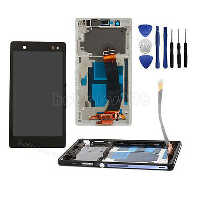 LCD Touch Screen Digitizer+Frame+Tools For Sony Xperia Z LT36i L36H C6603 C6602