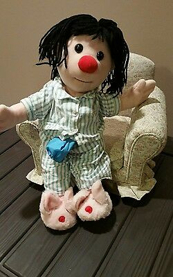 "Big Comfy Couch RARE Molly Doll 16"" Flannel Pajamas Bunny Slippers Bedtime 1997"