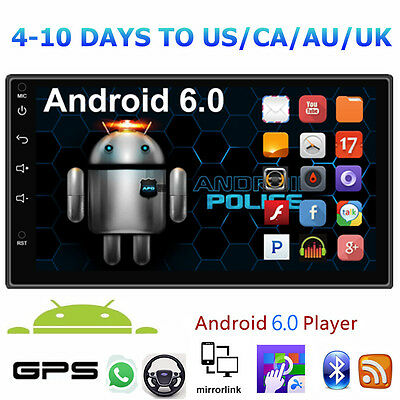 "Quad Core Android 6 3G WIFI 7"" Double 2DIN car Radio stereo MP5 player GPS Nav"